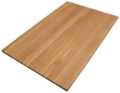 Tischplatte Eiche massiv 120x75 cm