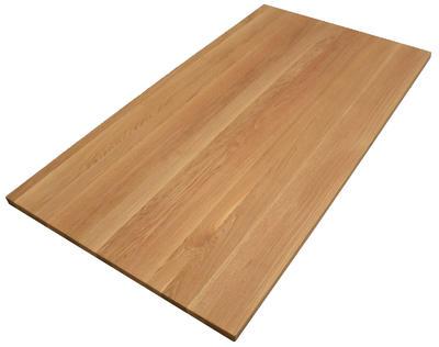Tischplatte Eiche massiv 180x90 cm