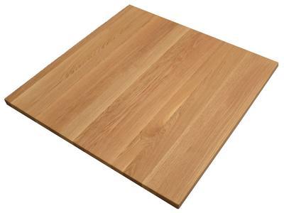 Tischplatte Asteiche rustikal  80x80 cm