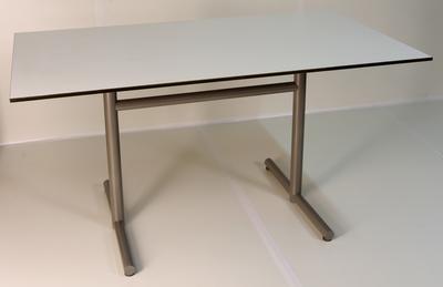 Gartentisch HPL 140x80 cm Weiss