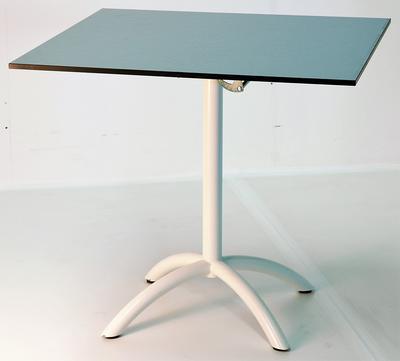 Gartentisch HPL 80x80 cm Silber