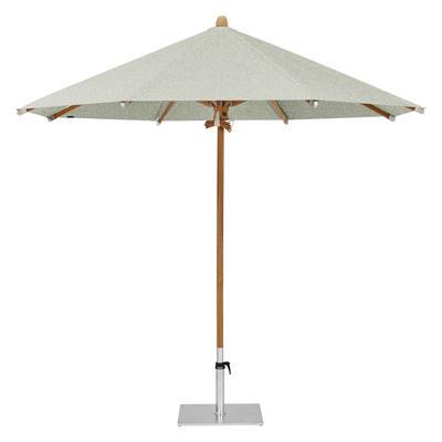Teakwood Ø 300 cm Stoffklasse 5 Sonnenschirm