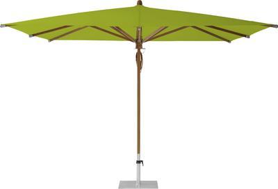 Teakwood 330 x 330 cm Stoffklasse 5 Sonnenschirm