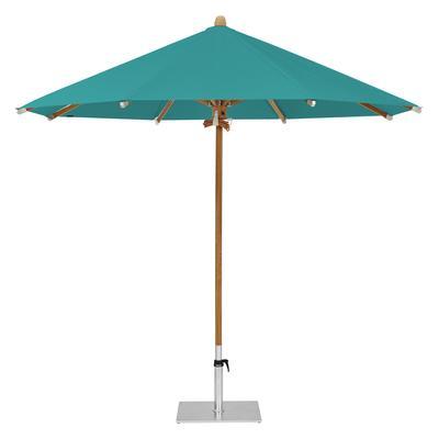 Teakwood Ø 350 cm Stoffklasse 4 Sonnenschirm