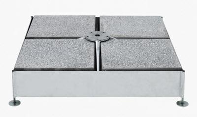 Sockel M4, 240 kg, 91 x 91 x 91 x23 cm, Stahl verzinkt
