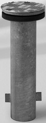 Bodenhülse M4, Stahl verzinkt
