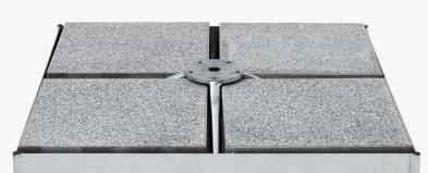 Platten Set 16 Stück, 40 x 40 x 40cm, Beton