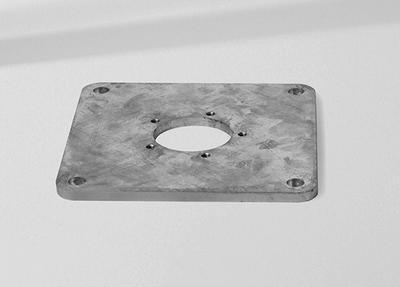 Montageplatte M4 / M8 30 x 30 x 1.5 cm Stahl verzinkt
