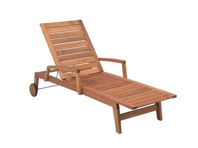 Liege 6108 mit Holzgestell und Armlehnen