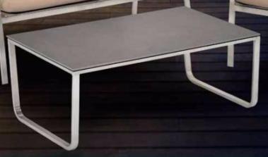 Lounge SF Tisch Edelstahl Keramik